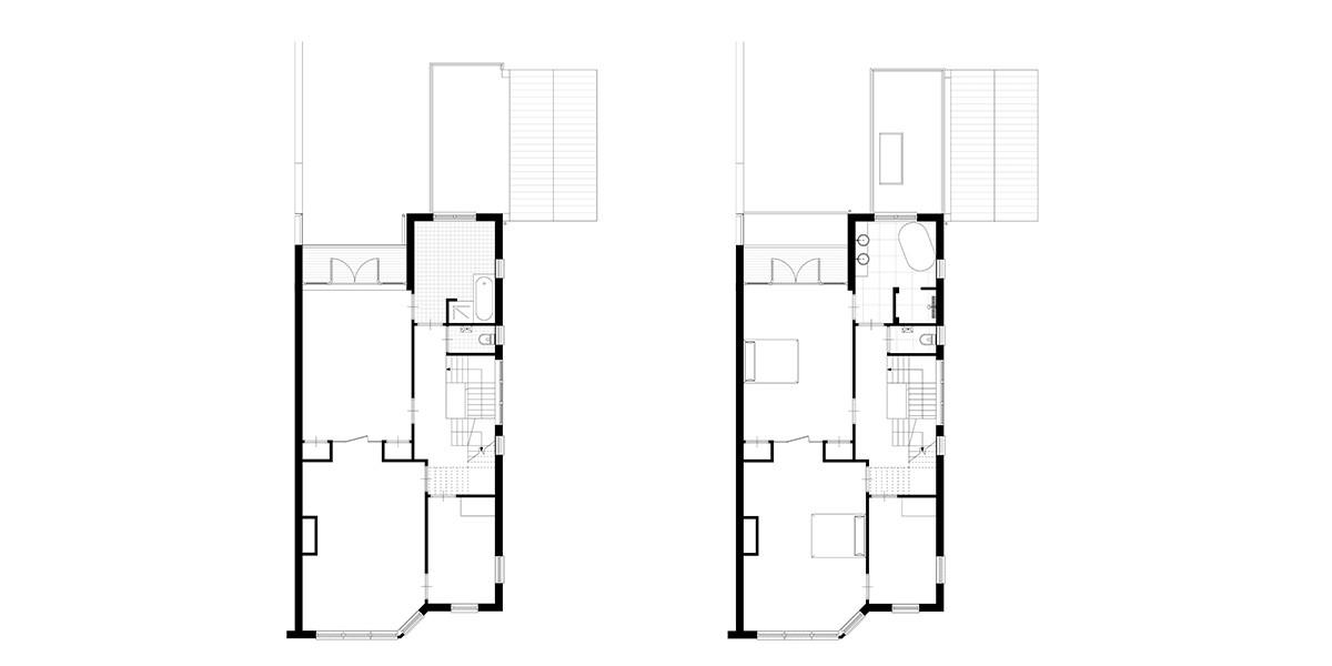 10-3-aanbouw-jaren-30-woning-verdieping-1-bestaand-en-nieuwe-situatie