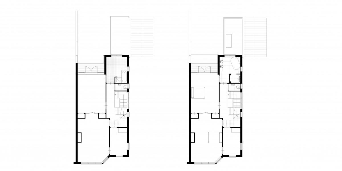 3-aanbouw-jaren-30-woning-verdieping-1-bestaand-en-nieuwe-situatie